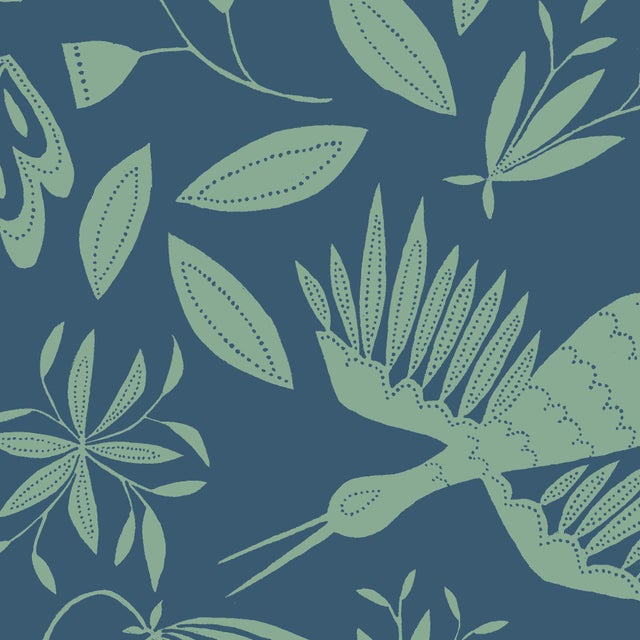 """EXCLUSIVE TO CHAIRISH! Bringing the joy of artistic design to bespoke wallcovering. Spec & Dimensions: 54 x 144"""" Care..."""