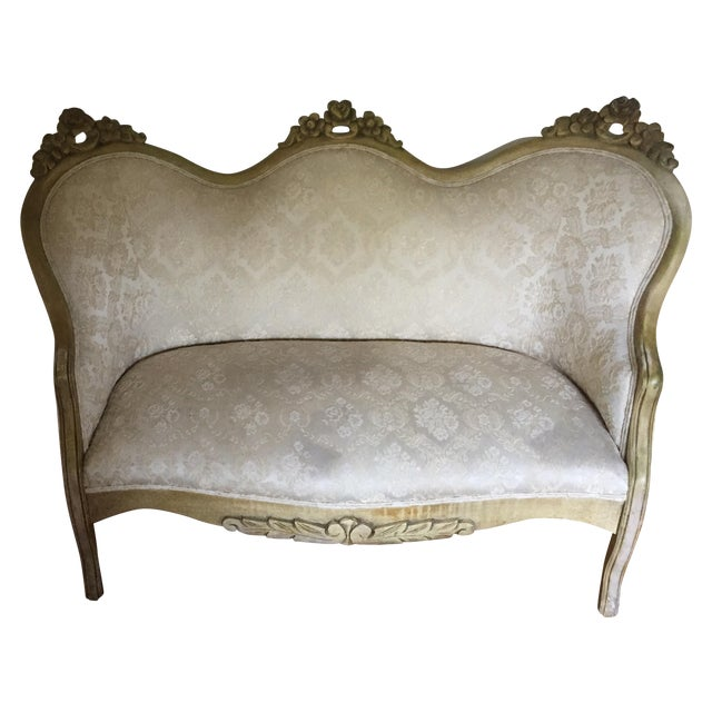Vintage French Shabby Chic Settee - Image 1 of 9