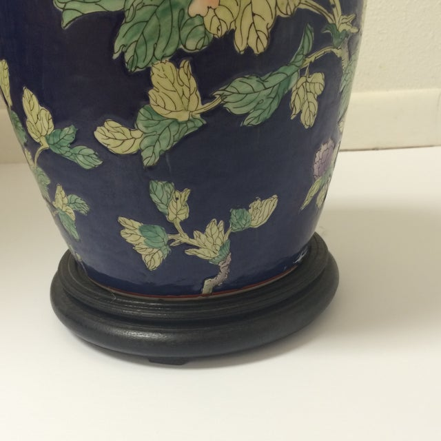 Chinoiserie Blue Floral Ginger Jar Lamp - Image 8 of 8