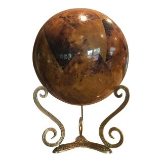 Modern Tessellated Stone Orb & Stand For Sale