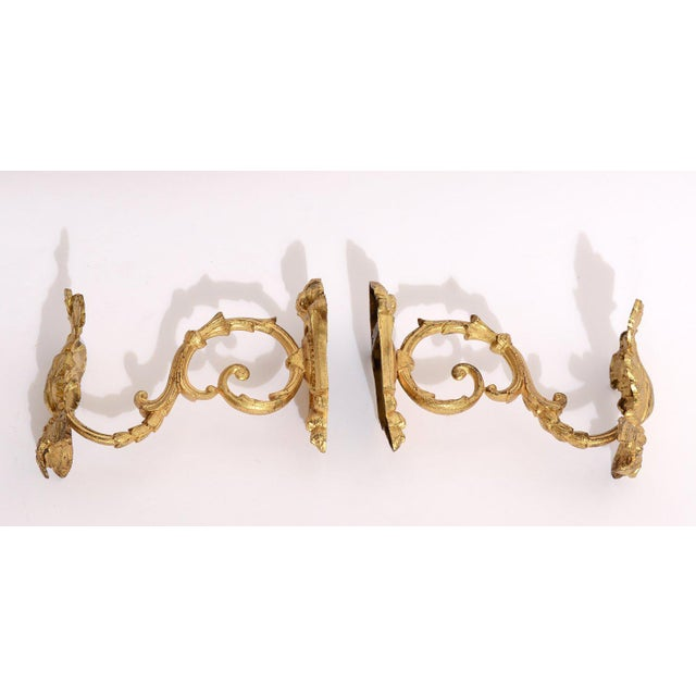 Baroque Antique 1880s French Gold Ormolu Curtain Tie / Hold Backs - a Pair For Sale - Image 3 of 6