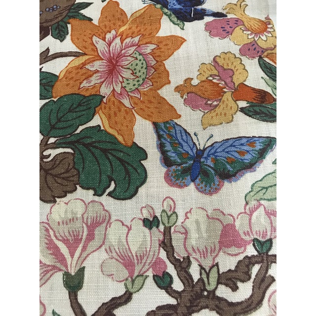 G P & J Baker Magnolia Colorful Linen Fabric - 10 Yards For Sale - Image 4 of 11