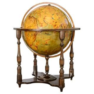 Italian Hand Painted World Globe Atlas