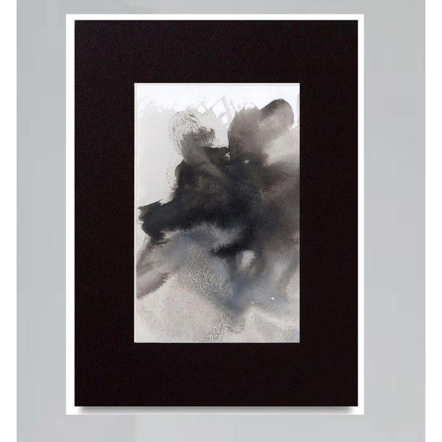 "SHADES Original modern art painting on paper. Matted in a black mat and ready to slip into a frame (UNFRAMED). 5"" x 7"" COA..."