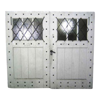 Double Painted Rustic Carriage House Doors - A Pair