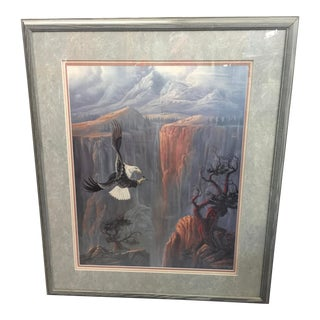 Rod Bearcloud Berry Lithograph of an Eagle Signed Limited Edition For Sale