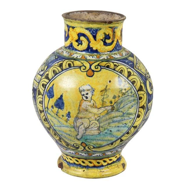 Roman Majolica Pot For Sale - Image 10 of 10