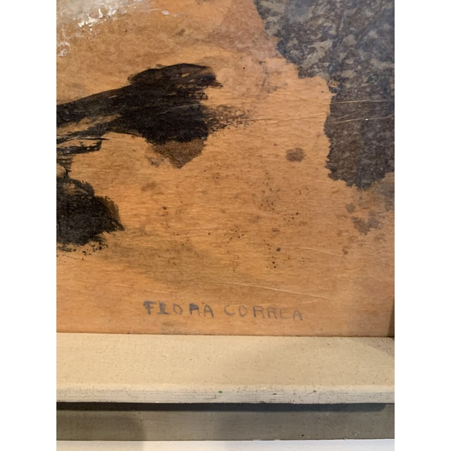 1960s Abstract Mixed Media Painting by Flora Correa For Sale - Image 5 of 8
