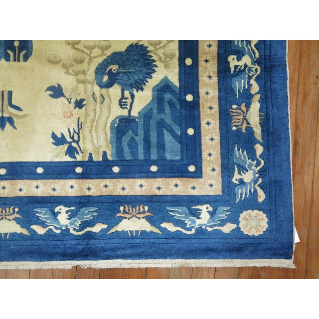 Antique Chinese Pictorial Elephant Rug, 4'9'' X 7'8'' For Sale - Image 10 of 13