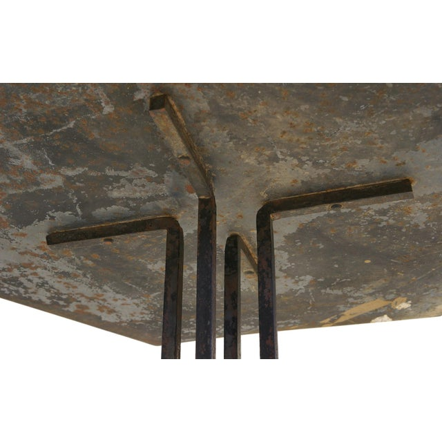 Metal Beautifully Distressed Frank Lloyd Wright & Warren McArthur Biltmore Cafe Table For Sale - Image 7 of 8