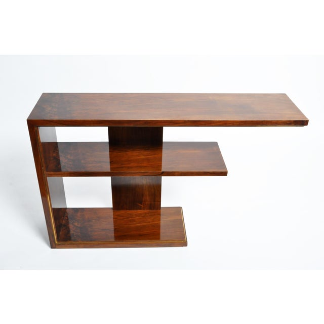 Hungarian Art Deco Console With Shelves For Sale In Chicago - Image 6 of 13
