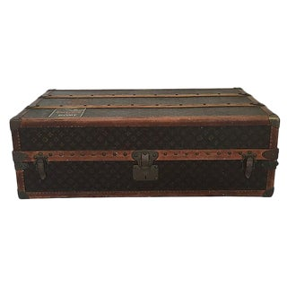Louis Vuitton Wardrobe Trunk, Circa 1920s For Sale