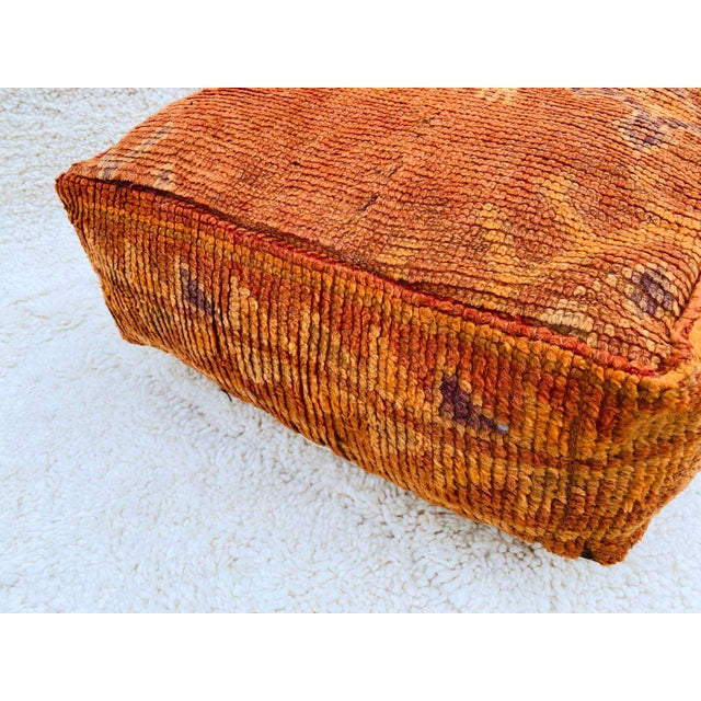 Moroccan Boujaad Handmade Pouf Cover For Sale - Image 3 of 13