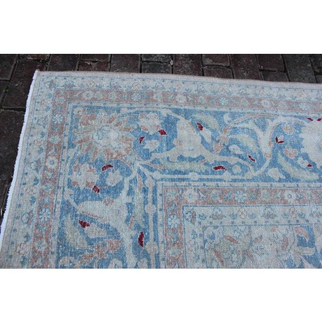 Blue Vintage Tabriz Wool Rug - 10′ × 14′1″ For Sale - Image 8 of 10