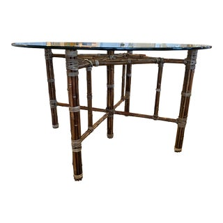 Mid 20th Century McGuire Bamboo Table Base For Sale
