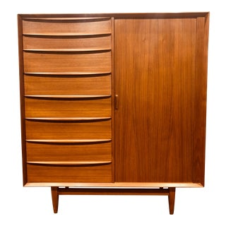 1960s Falster Danish Modern Teak Bachelors Chest For Sale