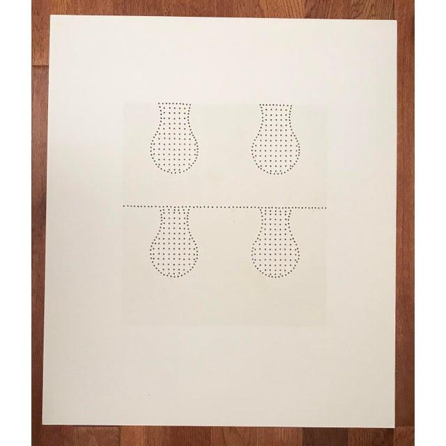 1970s 1971 Juan Martinez Composition #2 Hand Signed Silkscreen Print For Sale - Image 5 of 6