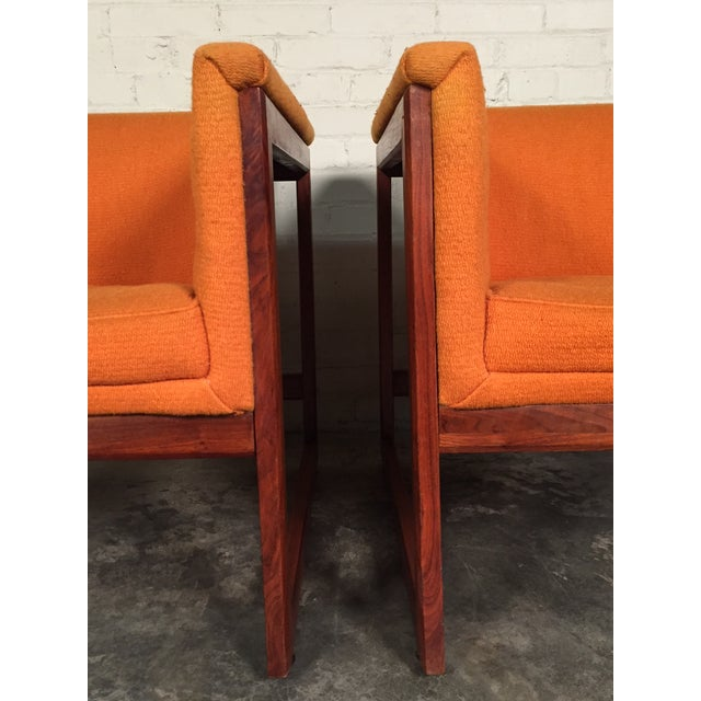 Milo Baughman Mid-Century Modern Floating Cube Chairs - A Pair For Sale - Image 9 of 10