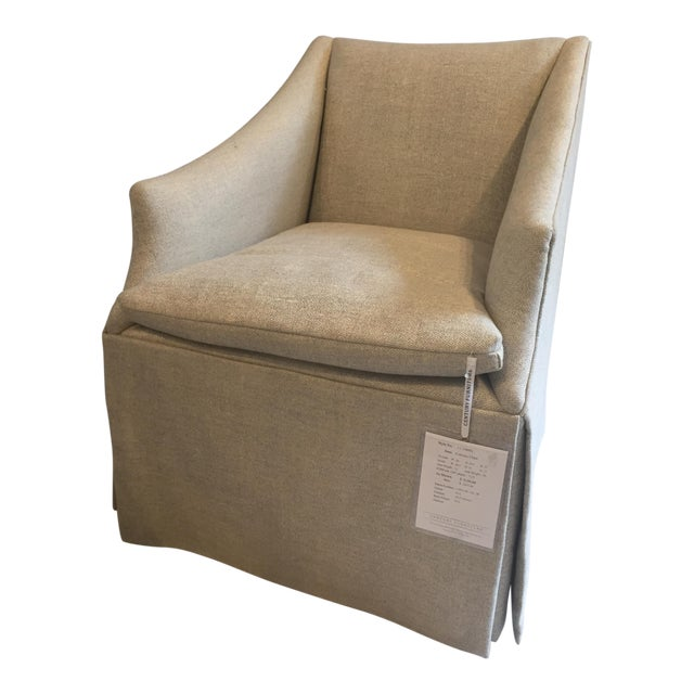 "Century Furniture Linen Skirted ""Coloney"" Chair - Image 1 of 7"