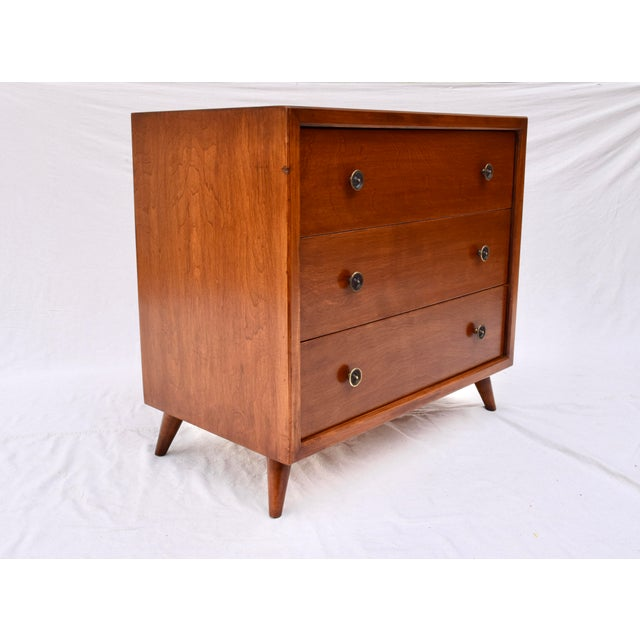Wood 1950's John Stuart Bachelor Chests, Pair For Sale - Image 7 of 12
