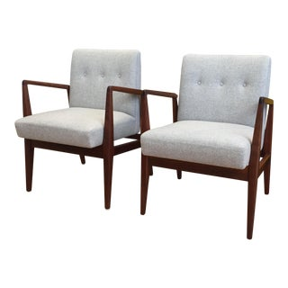 Vintage Mid Century Jens Risom Lounge Chairs- a Pair For Sale