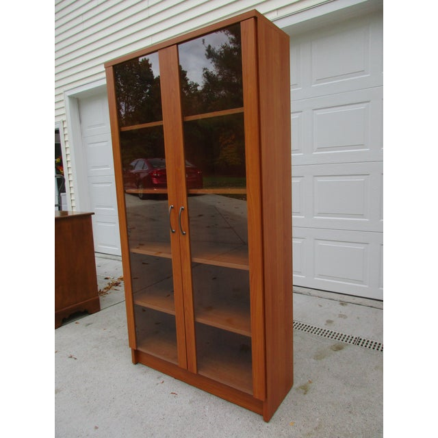 storage f case front for glass id bookcase sale at furniture master danish pieces bookcases