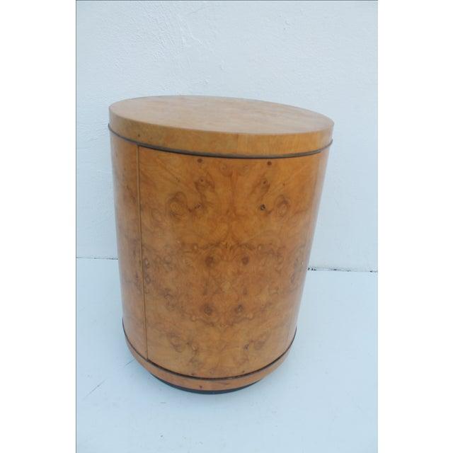 1970s Milo Baughman Burl Wood Side Table - Image 6 of 8