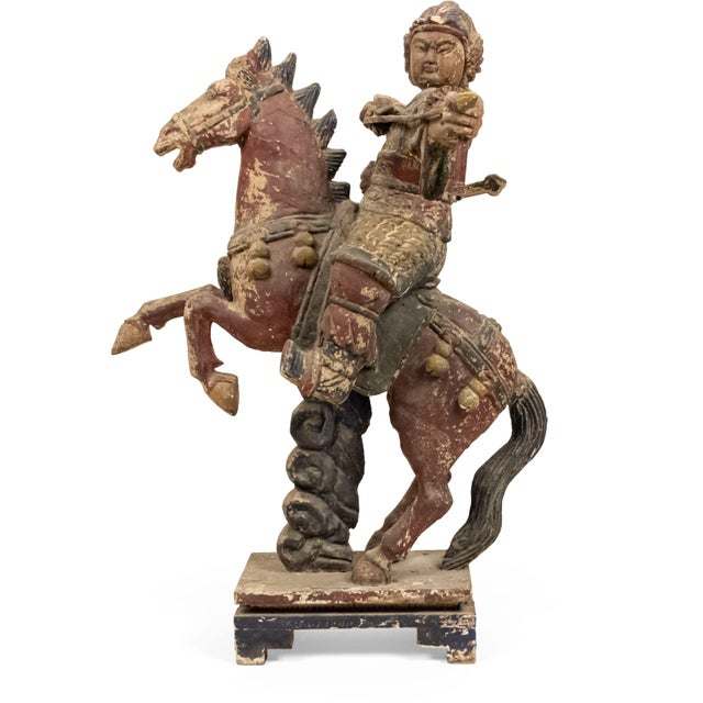 Sculpture of a Mongolian Warrior on Horse For Sale - Image 4 of 8