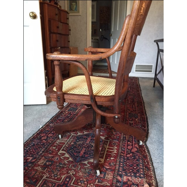 1940s Vintage Cane Office Chair - Image 4 of 8