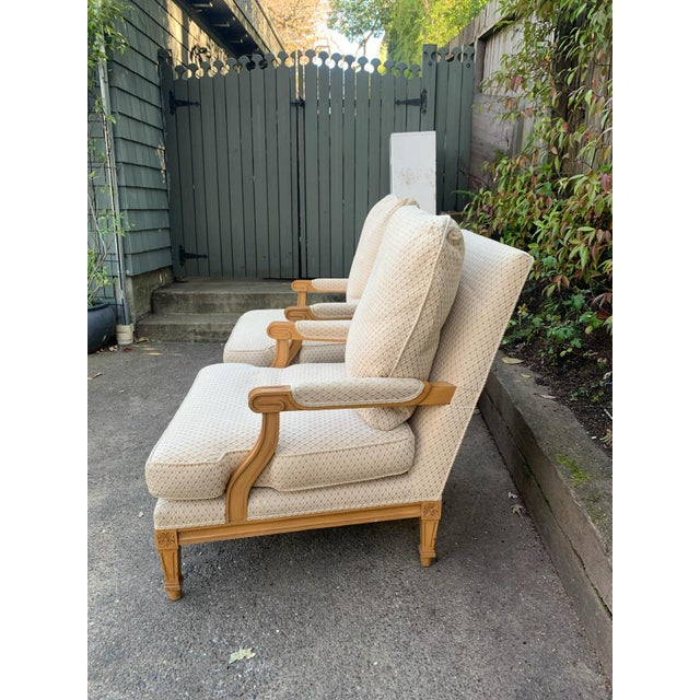 Neoclassical Nancy Corzine Upholstered Chairs - a Pair For Sale - Image 3 of 7
