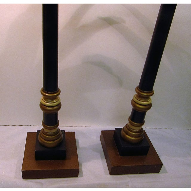 Vintage Palm Tree Candlesticks - A Pair - Image 4 of 6