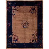 Image of Early 20th Century Antique Art Deco Chinese Wool Rug 9 X 12 For Sale