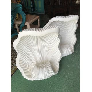 Large Vintage Scalloped Plaster Shell Bases Preview