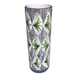 1960s Swedish Mid-Century Modern Laholm Ceramic Vase For Sale
