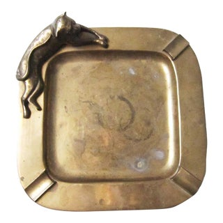 Vintage Brass Cat Ash Tray