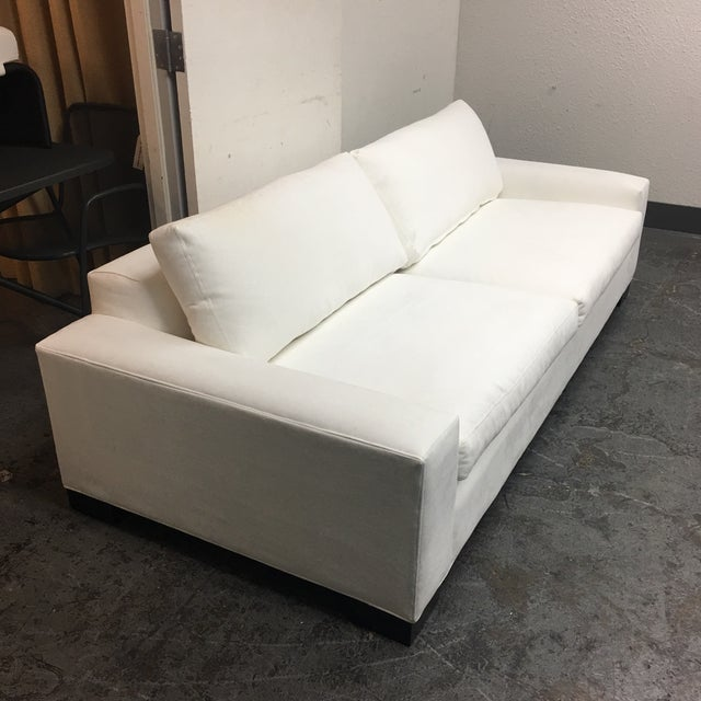 Room & Board White Ultasuede Townsend Sofa - Image 4 of 8