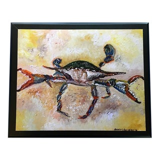 Nancy T. Van Ness Crab Signed Limited Edition Oil Painting Print For Sale
