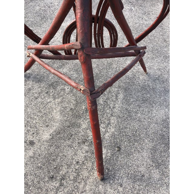 Red Twig Rustic Adirondack End Side Table For Sale - Image 8 of 9
