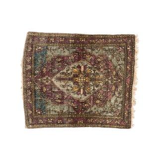 """Antique Silk Mohtashem Kashan Square Rug Mat - 1'8"""" X 1'11"""" For Sale"""