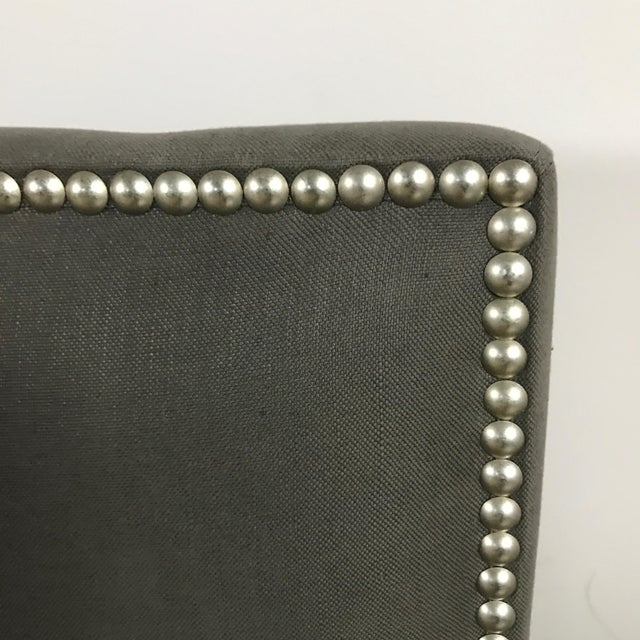 Crate & Barrel Upholstered King Bed - Image 5 of 11