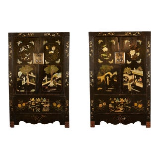 Rare Pair of 18th Century Chinese Cabinets For Sale