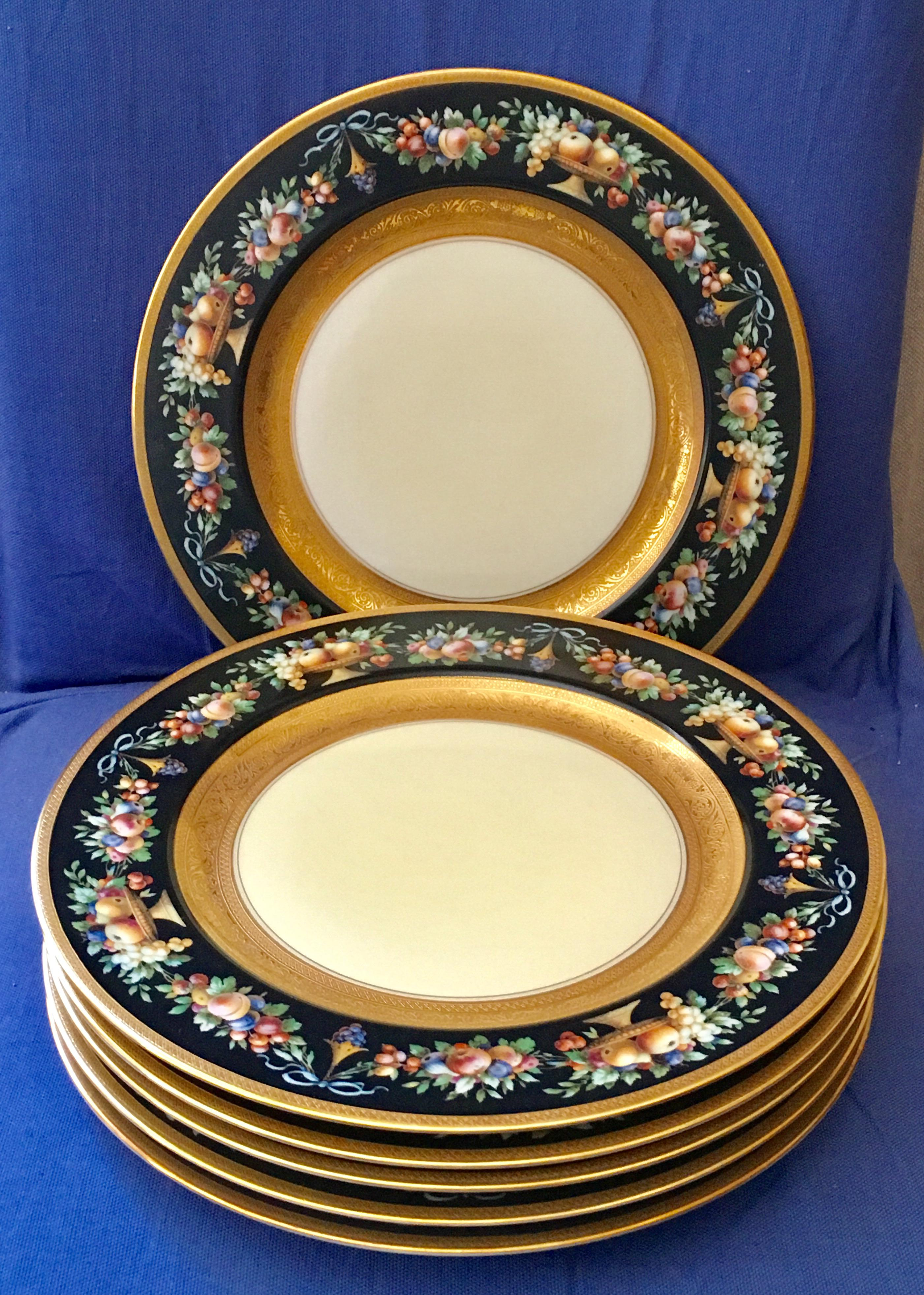 Black Knight Selb Bavaria Gold Banded Dinner Plates - Set of 6 - Image 5 of  sc 1 st  Chairish & Black Knight Selb Bavaria Gold Banded Dinner Plates - Set of 6 ...