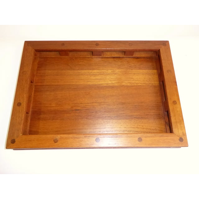 Green Dansk IHQ Modern Teak Tray with Glass Inserts, Quistgaard, Denmark For Sale - Image 8 of 13