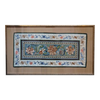 Late 19th Century Antique Framed Textile Art For Sale