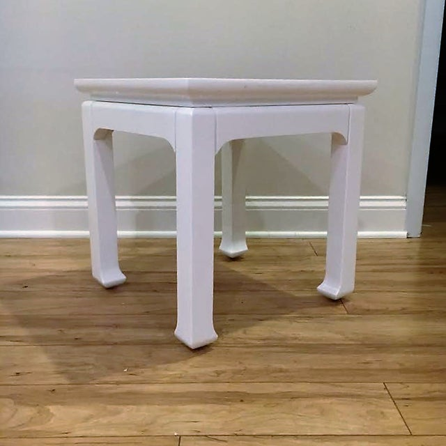 White Lacquered Tea Tables - A Pair - Image 3 of 4