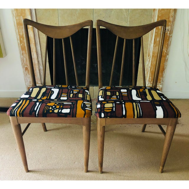 Contemporary Mid Century Danish Mod Dining Chairs, Pair For Sale - Image 3 of 11