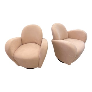Michael Wolk Miami Swivel Chairs - a Pair For Sale