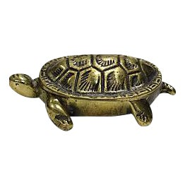 Antique English Brass Turtle Match Box For Sale