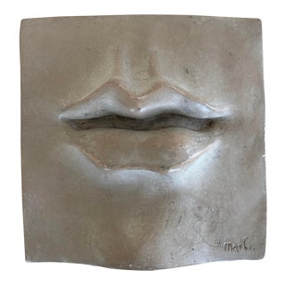 Dimensional Lips Wall Tile/ Sculpture For Sale
