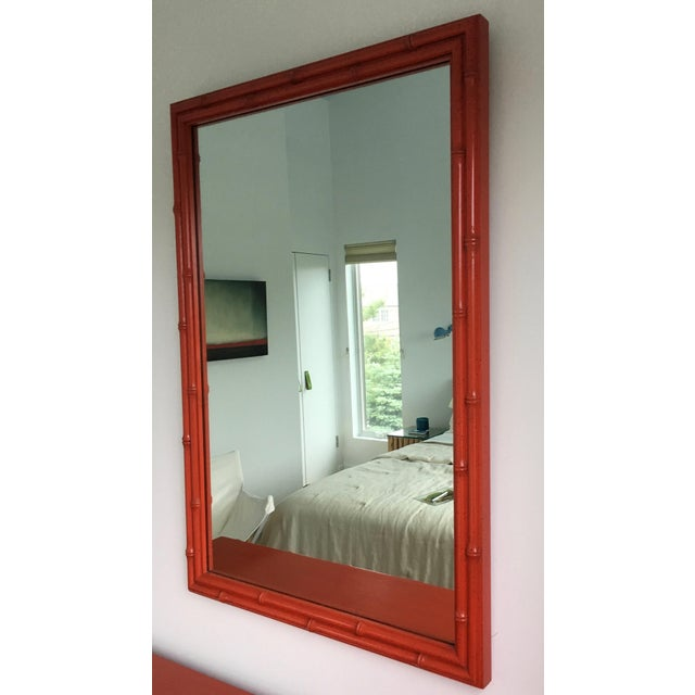 Vintage Faux-Bamboo Mirror - Image 2 of 3
